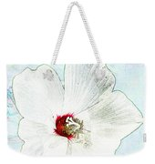 White Wildflower V Weekender Tote Bag