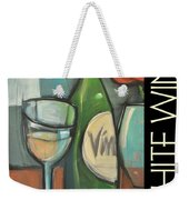 White Wine Poster Weekender Tote Bag