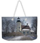 Whitehall Lighthouse In Winter Weekender Tote Bag