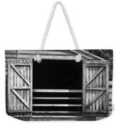Who Opened The Barn Door Weekender Tote Bag by Teresa Mucha