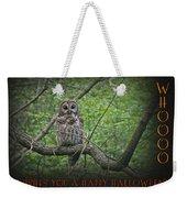 Whoooo Wishes  You A Happy Halloween - Greeting Card - Owl Weekender Tote Bag