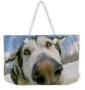Wide Angle Dog Weekender Tote Bag