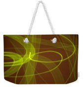 Wide Bands Of Soft Green Light Curve Around Each Other Weekender Tote Bag