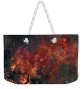 Widefield View Of He Crescent Nebula Weekender Tote Bag