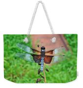 Widow Skimmer Dragonfly - Libellula Luctuosa Weekender Tote Bag