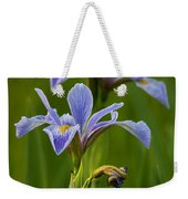 Wild Blue Flag Iris Weekender Tote Bag