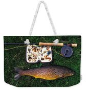 Wild Brown Trout And Fishing Rod Weekender Tote Bag