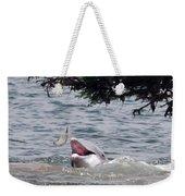Wild Dolphin Feeding Weekender Tote Bag