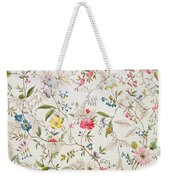 Wild Flowers Design For Silk Material Weekender Tote Bag