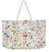 Wild Flowers Design For Silk Material Weekender Tote Bag