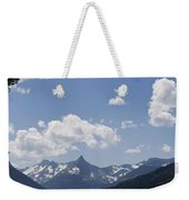Wild Goose Island Floats In St Mary Lake Weekender Tote Bag