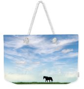 Wild Horse On Grassy Hill Weekender Tote Bag