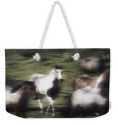 Wild Horses On The Move Weekender Tote Bag