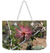 Wild Pink Fairy Duster Weekender Tote Bag