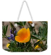 Wild Poppy And Lupine Weekender Tote Bag