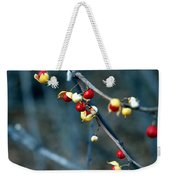 Wild Red Berries Out Of The Shell Weekender Tote Bag