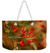 Wild Red Berry Reflections Weekender Tote Bag