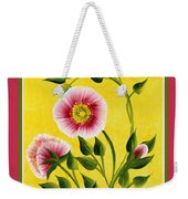 Wild Roses On Yellow With Borders Weekender Tote Bag