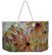 Wild Sunflowers Weekender Tote Bag