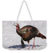 Wild Turkey In The Snow Weekender Tote Bag