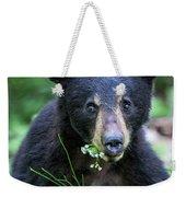 Wildflower Bear Weekender Tote Bag