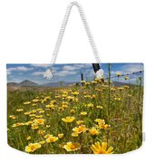Wildflowers And Barbed Wire Weekender Tote Bag