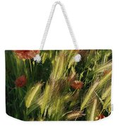 Wildflowers And Grass Tufts In Provence Weekender Tote Bag