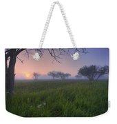 Wildflowers On A Foggy Pasture Weekender Tote Bag