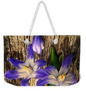 Wildflowers On Wood Weekender Tote Bag