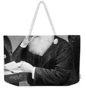 William Cullen Bryant, American Poet Weekender Tote Bag by Photo Researchers