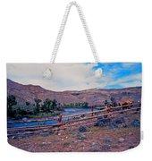 Wind River And Horses Weekender Tote Bag