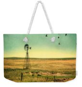 Windmill And Birds Weekender Tote Bag
