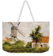Windmill At Knokke Weekender Tote Bag