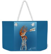 Windmill Rust Orange With Blue Sky Weekender Tote Bag