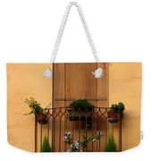 Window And Balcony In Vicenza Weekender Tote Bag