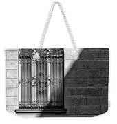Window And Shadow On A Wall With Bike Weekender Tote Bag