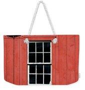 Window In Red Wall Weekender Tote Bag