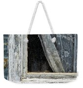 Window Of Old Abandoned Building Weekender Tote Bag