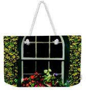 Window On An Ivy Covered Wall Weekender Tote Bag