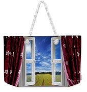 Window View Onto Arable Farmland Weekender Tote Bag