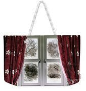 Window View To A Snow Scene Weekender Tote Bag