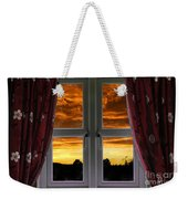 Window With Fiery Sky Weekender Tote Bag