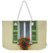 Window With Shutter Flowers Weekender Tote Bag