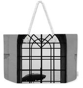 Windows On The Beach In Black And White Weekender Tote Bag