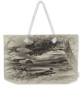 Windy Cove Bw Weekender Tote Bag