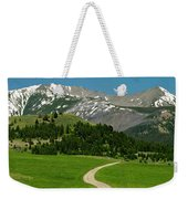 Windy Road To The Crazy Mountains Weekender Tote Bag