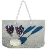Wine Glass With Grapes Weekender Tote Bag