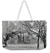 Winter At The Edge Of The Woods Weekender Tote Bag