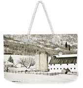Winter Barn 3 Weekender Tote Bag