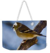 Winter Bird Weekender Tote Bag